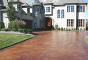 stained-concrete-driveway-Orlando