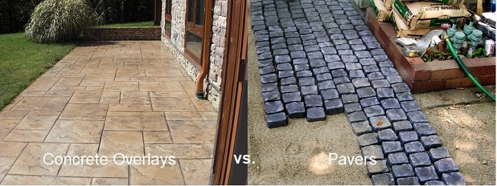concrete overlays vs pavers