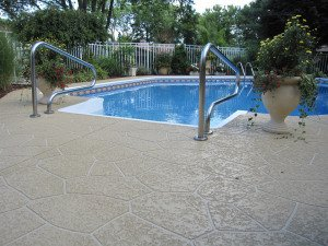 slip resistant pool deck