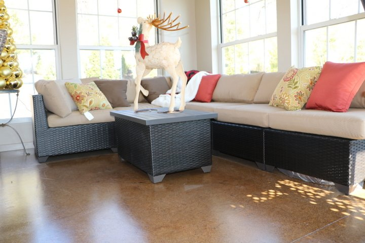staining concrete floors living room orlando
