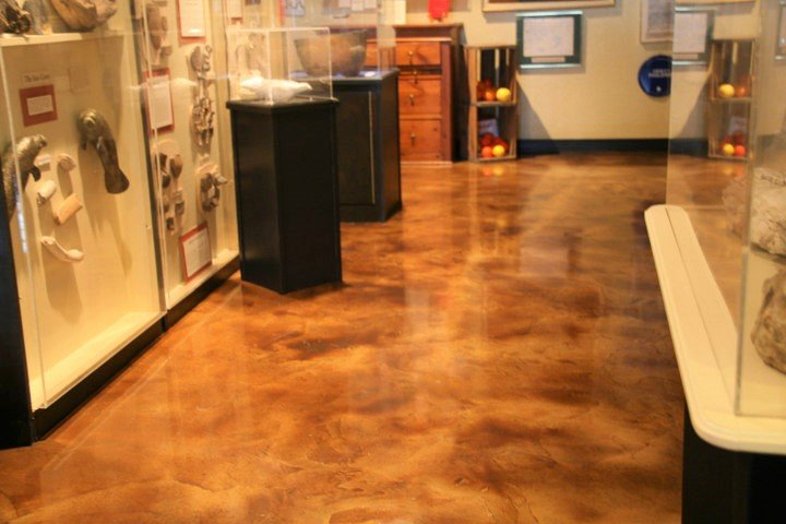 concrete staining interior floor orlando
