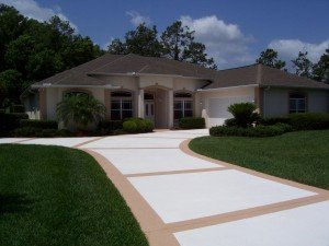 concrete driveway sunsand Orlando