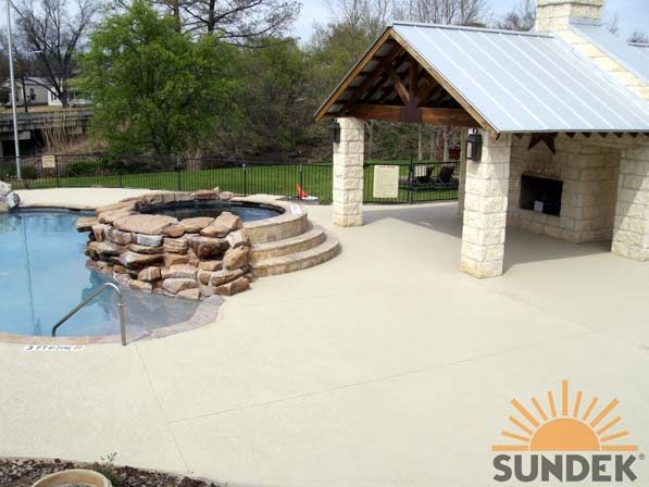 Concrete Pool Deck Chicago IL Stamped Overlays