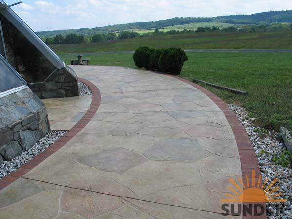 concrete walkway designs quotes