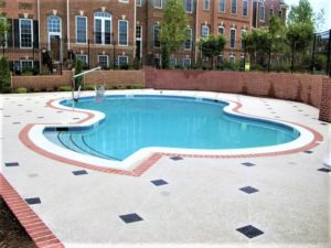 decorative concrete pool deck overlays