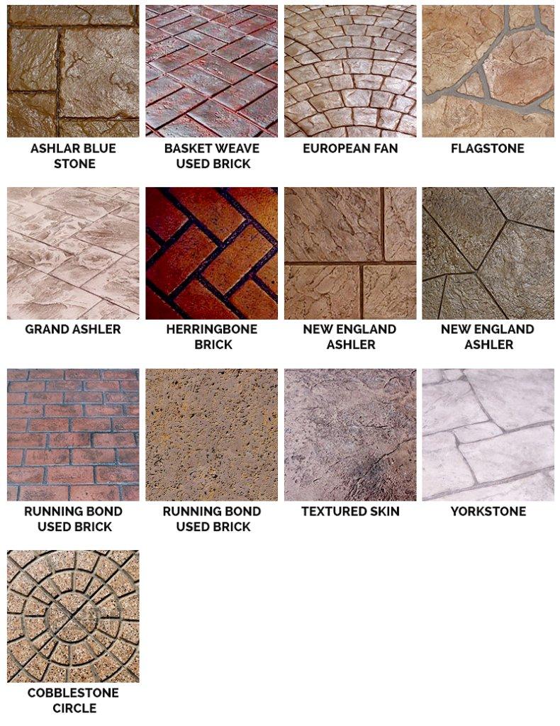 stamped concrete pattern orlando fl