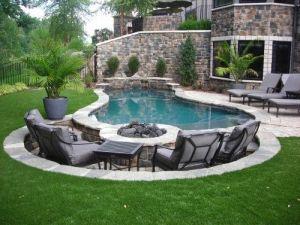 pool deck fire pit