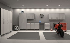 well lighted garage