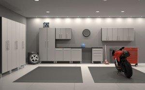 well lighted garage