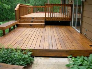 gardens decor wood patio