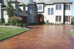 stained concrete driveway orlando