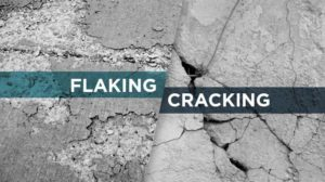 concrete flaking and cracking