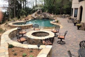 pool deck firepit